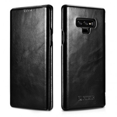 iCarer Vintage  Δερμάτινη Θήκη Samsung Galaxy Note 9 - Black (200-105-887)