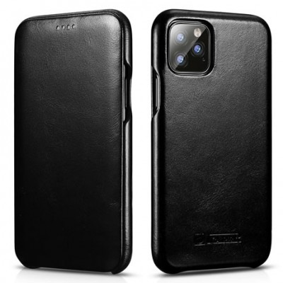 iCarer Vintage Curved Edge Δερμάτινη Θήκη Iphone 11 - Black (RIX 1102-BK)