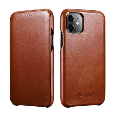 iCarer Vintage Curved Edge Δερμάτινη Θήκη Iphone 11 - Brown (RIX 1102-BN)