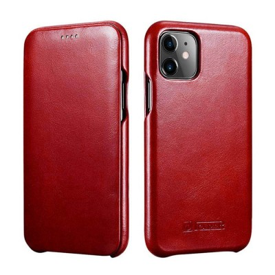 iCarer Vintage Curved Edge Δερμάτινη Θήκη Iphone 11 - Red (RIX 1102-RD)