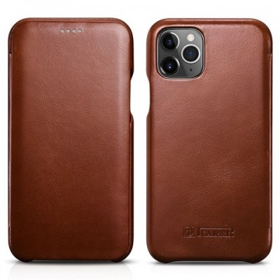 iCarer Vintage Curved Edge Δερμάτινη Θήκη Iphone 11 Pro - Brown (RIX 1101-BN)