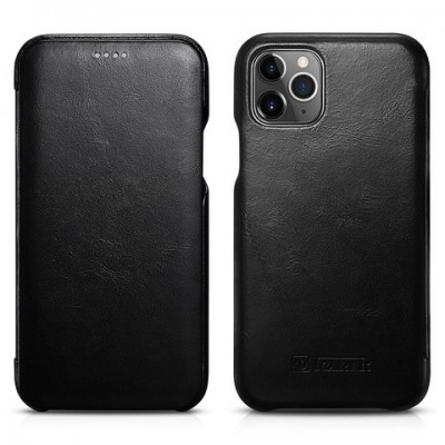 iCarer Vintage Curved Edge Δερμάτινη Θήκη Iphone 11 Pro Max - Black (RIX 1103-BK)