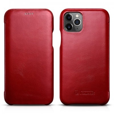 iCarer Vintage Curved Edge Δερμάτινη Θήκη Iphone 11 Pro Max - Red (RIX 1103-RD)