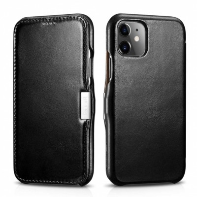 iCarer Vintage Side-Open Δερμάτινη Θήκη Iphone 11 - Black (RIX 1108-BK)