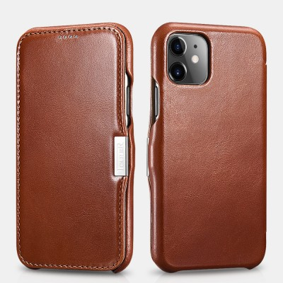 iCarer Vintage Curved Edge Δερμάτινη Θήκη Iphone 11 - Brown (RIX 1108-BN)