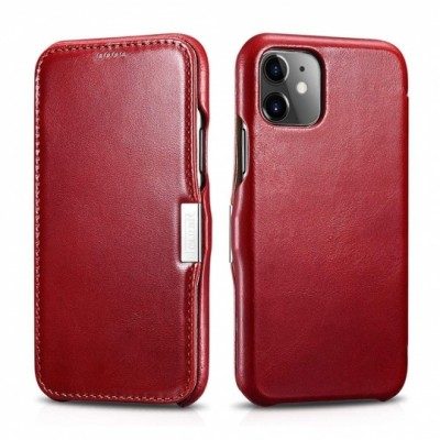 iCarer Vintage Curved Edge Δερμάτινη Θήκη Iphone 11 - Red (RIX 1108-RD)