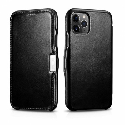 iCarer Vintage Side-Open Δερμάτινη Θήκη Iphone 11 Pro - Black (RIX 1107-BK)