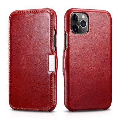 iCarer Vintage Side-Open Δερμάτινη Θήκη Iphone 11 Pro - Red (RIX 1107-RD)