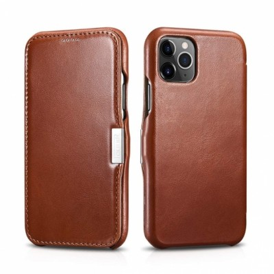 iCarer Vintage Open Black Δερμάτινη Θήκη Iphone 11 Pro Max - Brown (RIX 1109-BN)