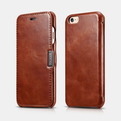 iCarer Vintage Series Side-Open Δερμάτινη Θήκη iPhone 6/6S - Brown (RIP 612)