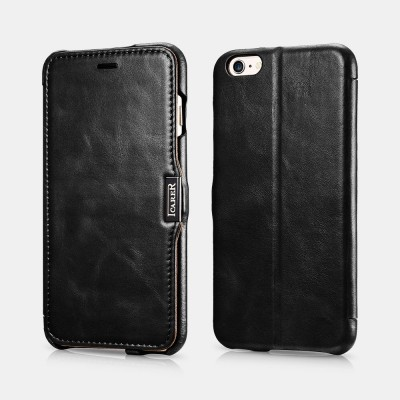 iCarer Vintage Series Side-Open Δερμάτινη Θήκη iPhone 6/6S Plus - Black (RIP 6003)