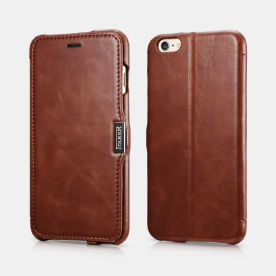 iCarer Vintage Series Side-Open Δερμάτινη Θήκη iPhone 6/6S Plus - Brown (RIP 6003)