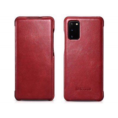 iCarer Vintage Series For Samsung Galaxy S20 - Red (RS 992012)