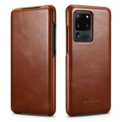 iCarer Vintage Series For Samsung Galaxy S20 Ultra - Brown (RS 992012)