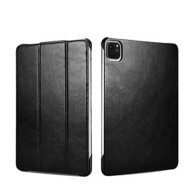 """iCarer RID 718 IPAD Pro 12.9"""" 2020 Genuine Leather Case Black (22-00178)"""