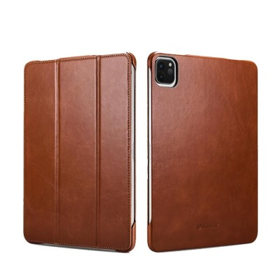 "iCarer RID 718 IPAD Pro 12.9"" 2020 Genuine Leather Case Brown (22-00179)"