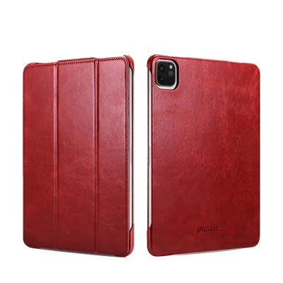 "iCarer RID 718 IPAD Pro 12.9"" 2020 Genuine Leather Case Red (22-00180)"