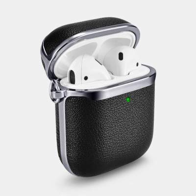 iCarer XAP 006 AirPods Silver Electroplating Case Black+Silver (22-00184)