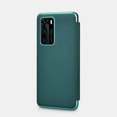iCarer RHP 4003 Huawei P40 Genuine Leather Book Case Green (22-00193)
