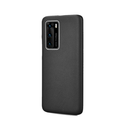iCarer RHP 4006 Huawei P40 Pro Genuine Leather Back Cover Black (22-00200)