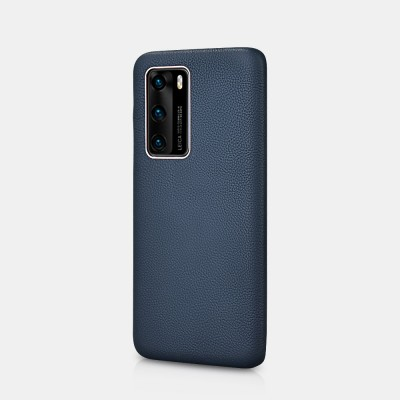 iCarer RHP 4006 Huawei P40 Pro Genuine Leather Back Cover Blue (22-00201)