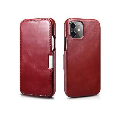 iCarer Vintage Series Side-Open Δερμάτινη Θήκη iPhone 12 / 12 Pro - Brown (RIX 1210)