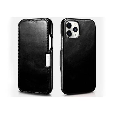 iCarer Vintage Series Side-Open Δερμάτινη Θήκη iPhone 12 Pro Max - Black (RIX 1211)