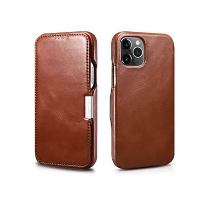 iCarer Vintage Series Side-Open Δερμάτινη Θήκη iPhone 12 Pro Max - Brown (RIX 1211)