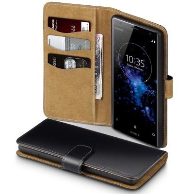 Terrapin Θήκη Πορτοφόλι Sony Xperia XZ2 - Black/Tan