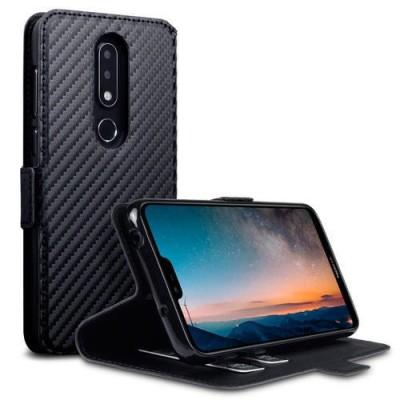 Terrapin Low Profile Δερμάτινη Θήκη - Πορτοφόλι Nokia 6.1 Plus - Black
