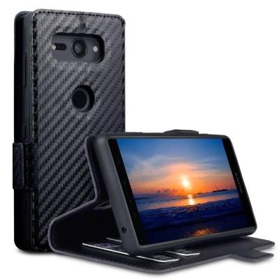 Terrapin Low Profile Θήκη - Πορτοφόλι Carbon Fibre Sony Xperia XZ2 Compact - Black