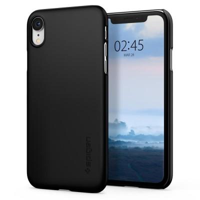 Spigen Θήκη iPhone XR Thin Fit - Black (064CS24864)