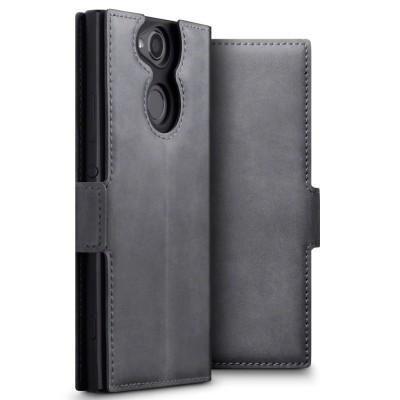 Terrapin Low Profile Δερμάτινη Θήκη - Πορτοφόλι Sony Xperia XA2 - Grey
