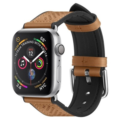 Spigen Retro Fit PU Leather Band 1/2/3/4/5 (42/44MM) Brown (062MP25078)