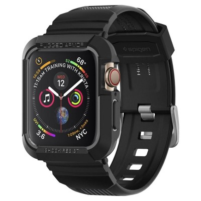 Spigen Rugged Armor Pro Case Black - Ανθεκτικό Λουράκι Θήκη Apple Watch 44mm - (062CS25324)