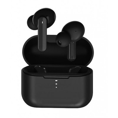 QCY T10PRO TWS BLACK Dual Driver 4-mic noise cancel. True Wireless Earbuds - Quick Charge 600mAh - I