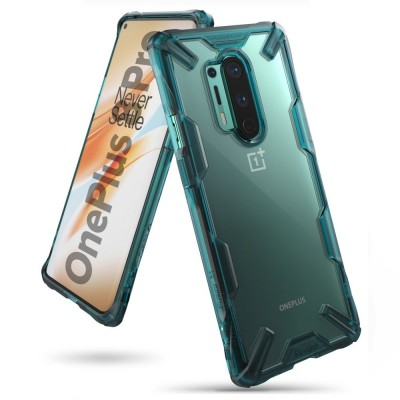 Ringke Fusion X Θήκη Σιλικόνης OnePlus 8 Pro - Turquoise Green (72421)