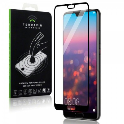 Terrapin Tempered Glass - Αντιχαρακτικό with Black Edge Γυαλί Οθόνης Huawei P20 Pro