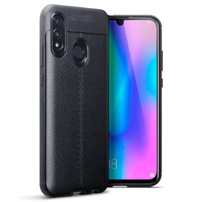 Terrapin Θήκη TPU Leather Design Huawei P Smart 2019 - Black (118-083-203)
