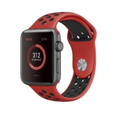 Kakapi Κόκκινο Sport Silicone Λουράκι Apple Watch 42mm