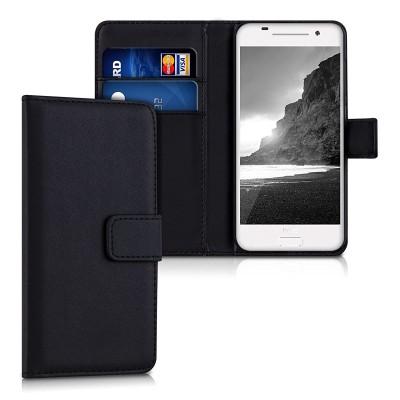 Θήκη- Πορτοφόλι μαύρη για HTC One A9 by KW