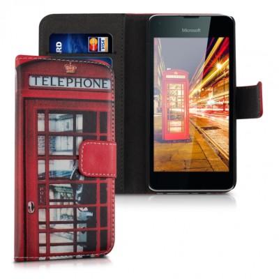 Θήκη Πορτοφόλι κόκκινο Phone Bouth για Microsoft Lumia 550
