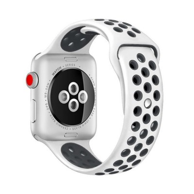 Kakapi Λευκό Sport Silicone Λουράκι Apple Watch 42mm