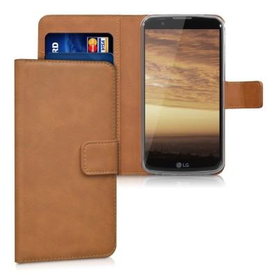 Θήκη- Πορτοφόλι για LG K10 καφέ by KW