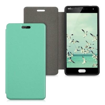 Θήκη-πορτοφόλι για Wiko U Feel πράσινη