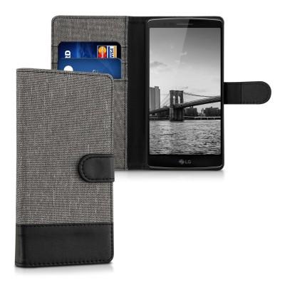 Θήκη- Πορτοφόλι για LG G Flex 2 γκρι