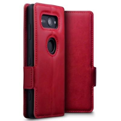 Terrapin Low Profile Δερμάτινη Θήκη - Πορτοφόλι Sony Xperia XZ2 Compact - Red