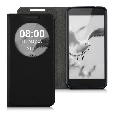 Θήκη- πορτοφόλι για LG Nexus 5X by KW μαύρο