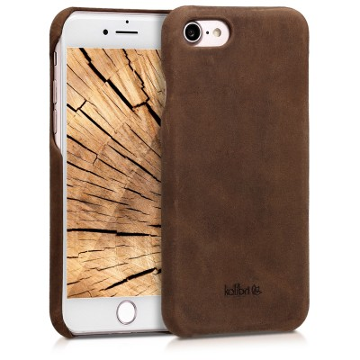 Kalibri Σκληρή Δερμάτινη Θήκη iPhone 7 / 8 / SE (2020) - Καφέ (200-105-808)