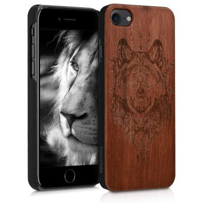 KW Ξύλινη Θήκη iPhone 7 / 8 - Rosewood Wolf